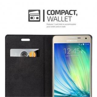 Cadorabo Hülle für Samsung Galaxy A5 2015 in KAFFEE BRAUN - Handyhülle mit Magnetverschluss, Standfunktion und Kartenfach - Case Cover Schutzhülle Etui Tasche Book Klapp Style - Vorschau 3