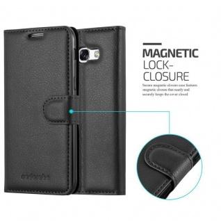 Cadorabo Hülle für Samsung Galaxy A7 2017 in PHANTOM SCHWARZ - Handyhülle mit Magnetverschluss, Standfunktion und Kartenfach - Case Cover Schutzhülle Etui Tasche Book Klapp Style - Vorschau 2
