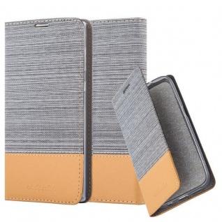 Cadorabo Hülle für Sony Xperia L1 in HELL GRAU BRAUN - Handyhülle mit Magnetverschluss, Standfunktion und Kartenfach - Case Cover Schutzhülle Etui Tasche Book Klapp Style