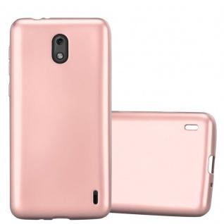 Cadorabo Hülle für Nokia 2 2017 in METALLIC ROSÉ GOLD - Handyhülle aus flexiblem TPU Silikon - Silikonhülle Schutzhülle Ultra Slim Soft Back Cover Case Bumper