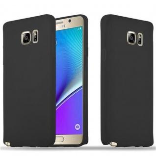 Cadorabo Hülle für Samsung Galaxy NOTE 5 in CANDY SCHWARZ - Handyhülle aus flexiblem TPU Silikon - Silikonhülle Schutzhülle Ultra Slim Soft Back Cover Case Bumper