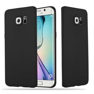 Cadorabo Hülle für Samsung Galaxy S6 EDGE PLUS - Hülle in CANDY SCHWARZ ? Handyhülle aus TPU Silikon im Candy Design - Ultra Slim Soft Backcover Case Bumper