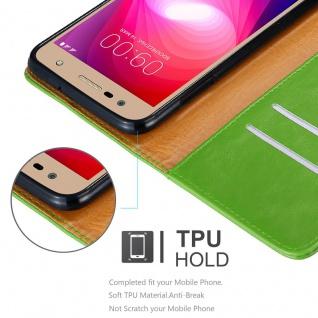 Cadorabo Hülle für LG X Power 2 in GRAS GRÜN - Handyhülle mit Magnetverschluss, Standfunktion und Kartenfach - Case Cover Schutzhülle Etui Tasche Book Klapp Style - Vorschau 3