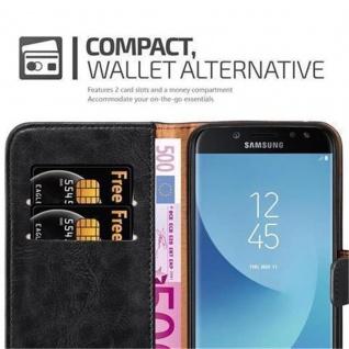 Cadorabo Hülle für Samsung Galaxy J7 2017 in GRAPHIT SCHWARZ ? Handyhülle mit Magnetverschluss, Standfunktion und Kartenfach ? Case Cover Schutzhülle Etui Tasche Book Klapp Style - Vorschau 4