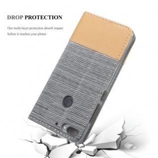 Cadorabo Hülle für HTC Desire 12 PLUS in HELL GRAU BRAUN - Handyhülle mit Magnetverschluss, Standfunktion und Kartenfach - Case Cover Schutzhülle Etui Tasche Book Klapp Style - Vorschau 5