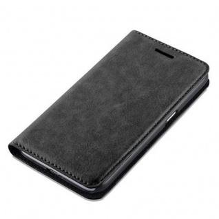 Cadorabo Hülle für Samsung Galaxy J1 2016 in NACHT SCHWARZ - Handyhülle mit Magnetverschluss, Standfunktion und Kartenfach - Case Cover Schutzhülle Etui Tasche Book Klapp Style - Vorschau 4