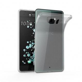 Cadorabo Hülle für HTC U ULTRA in VOLL TRANSPARENT - Handyhülle aus flexiblem TPU Silikon - Silikonhülle Schutzhülle Ultra Slim Soft Back Cover Case Bumper