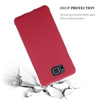 Cadorabo Hülle für Samsung Galaxy ALPHA in FROSTY ROT - Hardcase Handyhülle aus Plastik gegen Kratzer und Stöße - Schutzhülle Bumper Ultra Slim Back Case Hard Cover - Vorschau 3