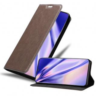 Cadorabo Hülle für Samsung Galaxy NOTE 10 PLUS in KAFFEE BRAUN Handyhülle mit Magnetverschluss, Standfunktion und Kartenfach Case Cover Schutzhülle Etui Tasche Book Klapp Style