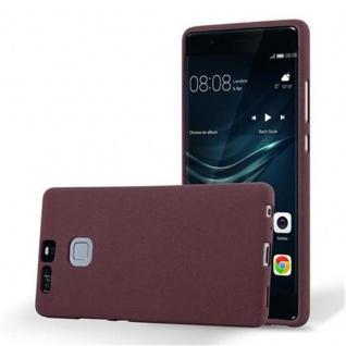 Cadorabo Hülle für Huawei P9 in FROST BORDEAUX LILA - Handyhülle aus flexiblem TPU Silikon - Silikonhülle Schutzhülle Ultra Slim Soft Back Cover Case Bumper