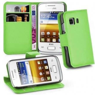 Cadorabo Hülle für Samsung Galaxy YOUNG 2 in MINZ GRÜN - Handyhülle mit Magnetverschluss, Standfunktion und Kartenfach - Case Cover Schutzhülle Etui Tasche Book Klapp Style