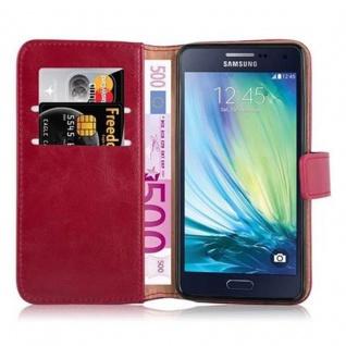 Cadorabo Hülle für Samsung Galaxy A5 2015 in WEIN ROT - Handyhülle mit Magnetverschluss, Standfunktion und Kartenfach - Case Cover Schutzhülle Etui Tasche Book Klapp Style - Vorschau 5