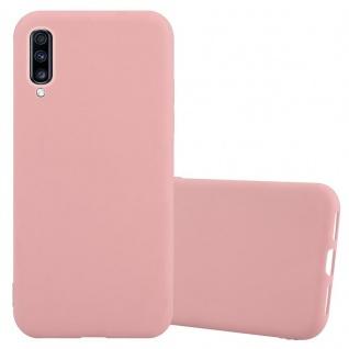 Cadorabo Hülle für Samsung Galaxy A70 in CANDY ROSA - Handyhülle aus flexiblem TPU Silikon - Silikonhülle Schutzhülle Ultra Slim Soft Back Cover Case Bumper
