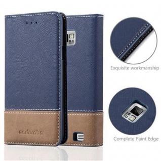 Cadorabo Hülle für Samsung Galaxy S2 / S2 PLUS in DUNKEL BLAU BRAUN ? Handyhülle mit Magnetverschluss, Standfunktion und Kartenfach ? Case Cover Schutzhülle Etui Tasche Book Klapp Style - Vorschau 2