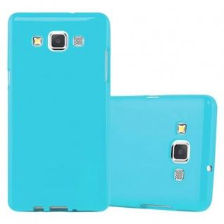 Cadorabo Hülle für Samsung Galaxy A5 2015 in JELLY HELL BLAU ? Handyhülle aus flexiblem TPU Silikon ? Silikonhülle Schutzhülle Ultra Slim Soft Back Cover Case Bumper