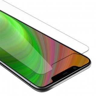 Cadorabo Panzer Folie für Nokia 8.1 2018 - Schutzfolie in KRISTALL KLAR - Gehärtetes (Tempered) Display-Schutzglas in 9H Härte mit 3D Touch Kompatibilität