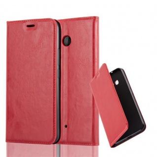 Cadorabo Hülle für HTC OCEAN / U11 in APFEL ROT Handyhülle mit Magnetverschluss, Standfunktion und Kartenfach Case Cover Schutzhülle Etui Tasche Book Klapp Style
