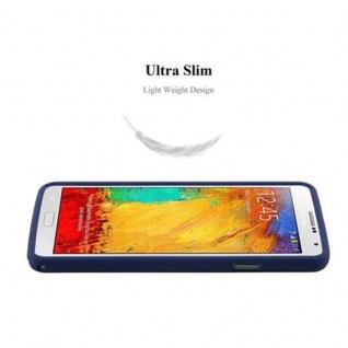 Cadorabo Hülle für Samsung Galaxy NOTE 3 in FROST DUNKEL BLAU - Handyhülle aus flexiblem TPU Silikon - Silikonhülle Schutzhülle Ultra Slim Soft Back Cover Case Bumper - Vorschau 3