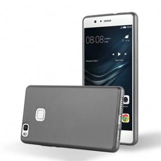 Cadorabo Hülle für Huawei P9 LITE in METALLIC GRAU - Handyhülle aus flexiblem TPU Silikon - Silikonhülle Schutzhülle Ultra Slim Soft Back Cover Case Bumper
