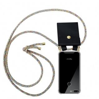 Cadorabo Handy Kette für Honor 9 LITE in RAINBOW - Silikon Necklace Umhänge Hülle mit Gold Ringen, Kordel Band Schnur und abnehmbarem Etui ? Schutzhülle