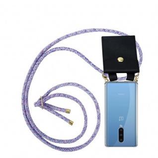 Cadorabo Handy Kette für Oneplus 8 in UNICORN Silikon Necklace Umhänge Hülle mit Gold Ringen, Kordel Band Schnur und abnehmbarem Etui Schutzhülle