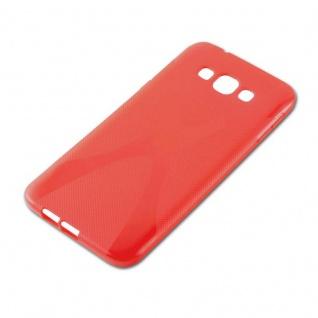Cadorabo Hülle für Samsung Galaxy A8 2015 in INFERNO ROT - Handyhülle aus flexiblem TPU Silikon - Silikonhülle Schutzhülle Ultra Slim Soft Back Cover Case Bumper - Vorschau 2