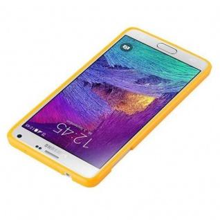 Cadorabo Hülle für Samsung Galaxy NOTE 4 in JELLY GELB ? Handyhülle aus flexiblem TPU Silikon ? Silikonhülle Schutzhülle Ultra Slim Soft Back Cover Case Bumper - Vorschau 2