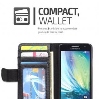 Cadorabo Hülle für Samsung Galaxy A3 2015 in OXID SCHWARZ - Handyhülle mit Magnetverschluss und 3 Kartenfächern - Case Cover Schutzhülle Etui Tasche Book Klapp Style - Vorschau 2