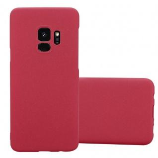 Cadorabo Hülle für Samsung Galaxy S9 in FROSTY ROT Hardcase Handyhülle aus Plastik gegen Kratzer und Stöße Schutzhülle Bumper Ultra Slim Back Case Hard Cover
