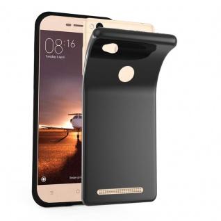 Cadorabo Hülle für Xiaomi RedMi 3S in SCHWARZ - Handyhülle aus flexiblem TPU Silikon - Silikonhülle Schutzhülle Ultra Slim Soft Back Cover Case Bumper