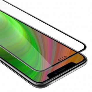 Cadorabo Vollbild Panzer Folie für Apple iPhone 11 (XI) - Schutzfolie in TRANSPARENT mit SCHWARZ - Gehärtetes (Tempered) Display-Schutzglas in 9H Härte mit 3D Touch