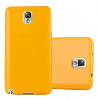 Cadorabo Hülle für Samsung Galaxy NOTE 3 in JELLY GELB ? Handyhülle aus flexiblem TPU Silikon ? Silikonhülle Schutzhülle Ultra Slim Soft Back Cover Case Bumper