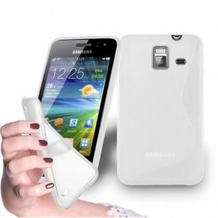 Cadorabo Hülle für Samsung Galaxy WAVE Y in HALB TRANSPARENT ? Handyhülle aus flexiblem TPU Silikon ? Silikonhülle Schutzhülle Ultra Slim Soft Back Cover Case Bumper