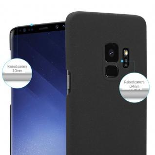 Cadorabo Hülle für Samsung Galaxy S9 in FROSTY SCHWARZ - Hardcase Handyhülle aus Plastik gegen Kratzer und Stöße - Schutzhülle Bumper Ultra Slim Back Case Hard Cover - Vorschau 3