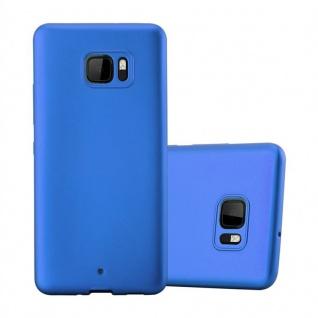 Cadorabo Hülle für HTC U ULTRA in METALLIC BLAU - Handyhülle aus flexiblem TPU Silikon - Silikonhülle Schutzhülle Ultra Slim Soft Back Cover Case Bumper