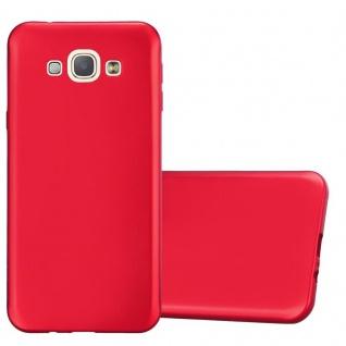 Cadorabo Hülle für Samsung Galaxy A8 2015 in METALLIC ROT - Handyhülle aus flexiblem TPU Silikon - Silikonhülle Schutzhülle Ultra Slim Soft Back Cover Case Bumper