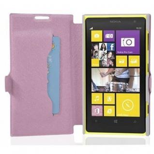 Cadorabo Hülle für Nokia Lumia 1020 - Hülle in ICY ROSE - Handyhülle mit Standfunktion und Kartenfach im Ultra Slim Design - Case Cover Schutzhülle Etui Tasche Book