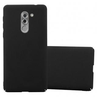 Cadorabo Hülle für Honor 6X in FROSTY SCHWARZ - Hardcase Handyhülle aus Plastik gegen Kratzer und Stöße - Schutzhülle Bumper Ultra Slim Back Case Hard Cover