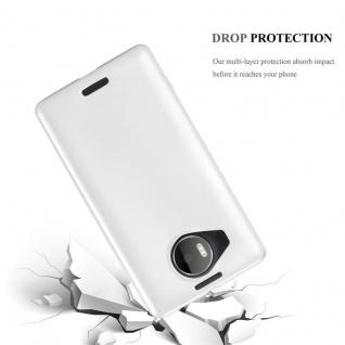 Cadorabo Hülle für Nokia Lumia 950 XL in METALLIC SILBER - Handyhülle aus flexiblem TPU Silikon - Silikonhülle Schutzhülle Ultra Slim Soft Back Cover Case Bumper - Vorschau 3