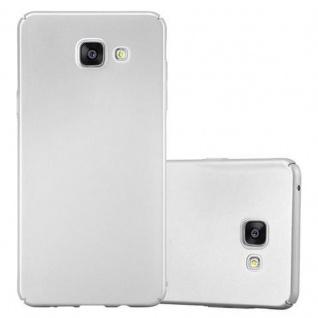 Cadorabo Hülle für Samsung Galaxy A5 2016 in METALL SILBER Hardcase Handyhülle aus Plastik gegen Kratzer und Stöße Schutzhülle Bumper Ultra Slim Back Case Hard Cover
