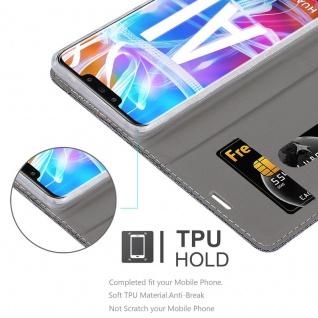 Cadorabo Hülle für Huawei MATE 20 LITE in GRAU SCHWARZ - Handyhülle mit Magnetverschluss, Standfunktion und Kartenfach - Case Cover Schutzhülle Etui Tasche Book Klapp Style - Vorschau 2