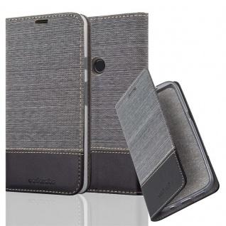 Cadorabo Hülle für Google Pixel 2 XL in GRAU SCHWARZ - Handyhülle mit Magnetverschluss, Standfunktion und Kartenfach - Case Cover Schutzhülle Etui Tasche Book Klapp Style