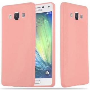 Cadorabo Hülle für Samsung Galaxy A5 2015 in CANDY ROSA - Handyhülle aus flexiblem TPU Silikon - Silikonhülle Schutzhülle Ultra Slim Soft Back Cover Case Bumper