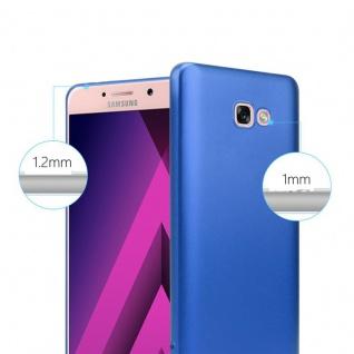 Cadorabo Hülle für Samsung Galaxy A7 2017 in METALLIC BLAU - Handyhülle aus flexiblem TPU Silikon - Silikonhülle Schutzhülle Ultra Slim Soft Back Cover Case Bumper - Vorschau 4