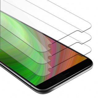 Cadorabo 3x Panzer Folie für HTC U11 PLUS - Schutzfolie in KRISTALL KLAR - 3er Pack Gehärtetes (Tempered) Display-Schutzglas in 9H Härte mit 3D Touch Kompatibilität