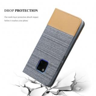 Cadorabo Hülle für Huawei MATE 20 PRO in HELL GRAU BRAUN - Handyhülle mit Magnetverschluss, Standfunktion und Kartenfach - Case Cover Schutzhülle Etui Tasche Book Klapp Style - Vorschau 5