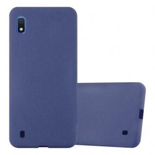 Cadorabo Hülle für Samsung Galaxy A10 in FROST DUNKEL BLAU Handyhülle aus flexiblem TPU Silikon Silikonhülle Schutzhülle Ultra Slim Soft Back Cover Case Bumper
