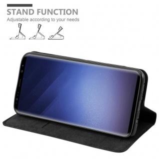 Cadorabo Hülle für Samsung Galaxy S9 PLUS in NACHT SCHWARZ - Handyhülle mit Magnetverschluss, Standfunktion und Kartenfach - Case Cover Schutzhülle Etui Tasche Book Klapp Style - Vorschau 4