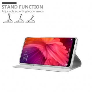 Cadorabo Hülle für Xiaomi Mi MIX 2 in CLASSY SILBER - Handyhülle mit Magnetverschluss, Standfunktion und Kartenfach - Case Cover Schutzhülle Etui Tasche Book Klapp Style - Vorschau 4
