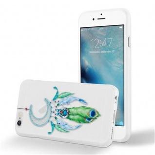 Cadorabo Hülle für Apple iPhone 6 / iPhone 6S - Hülle im Design MOND TRAUMFÄNGER GRÜN ? Handyhülle aus TPU Silikon mit Aufdruck - Silikonhülle Schutzhülle Ultra Slim Soft Back Cover Case Bumper